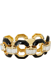 Juicy Couture - Shining Statements Black Enamel Link Baguette Bracelet