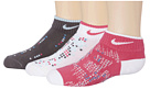 Nike - Graphic Lightweight Cotton w/ Moisture Management Low Cut 3-Pair Pack (Toddler/Little Kid/Big Kid) (Mutli Color)