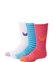 Nike Kids - Graphic Lightweight Cotton w/ Moisture Management Crew 3-Pair Pack (Toddler/Little Kid/Big Kid)