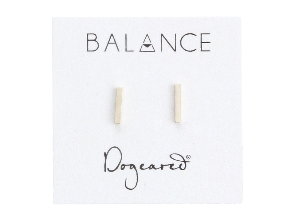 Dogeared - Balance Flat Bar Stud Earrings (Sterling Silver) Earring