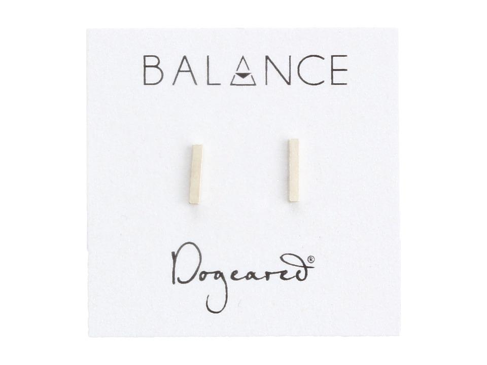 Dogeared Balance Flat Bar Stud Earrings Sterling Silver Earring