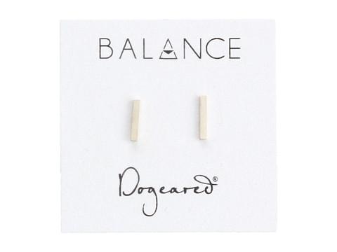 Dogeared Balance Flat Bar Stud Earrings - Sterling Silver