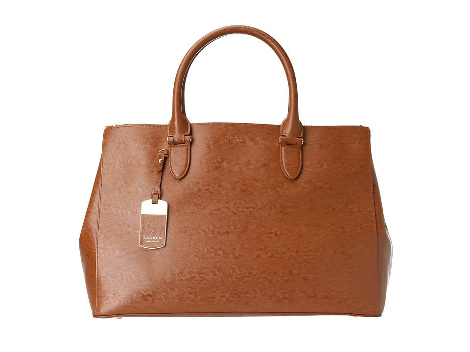 LAUREN Ralph Lauren - Newbury Double Zip Satchel (Lauren Tan) Satchel Handbags
