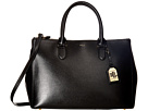LAUREN Ralph Lauren - Newbury Double Zip Satchel (Black (Gold))
