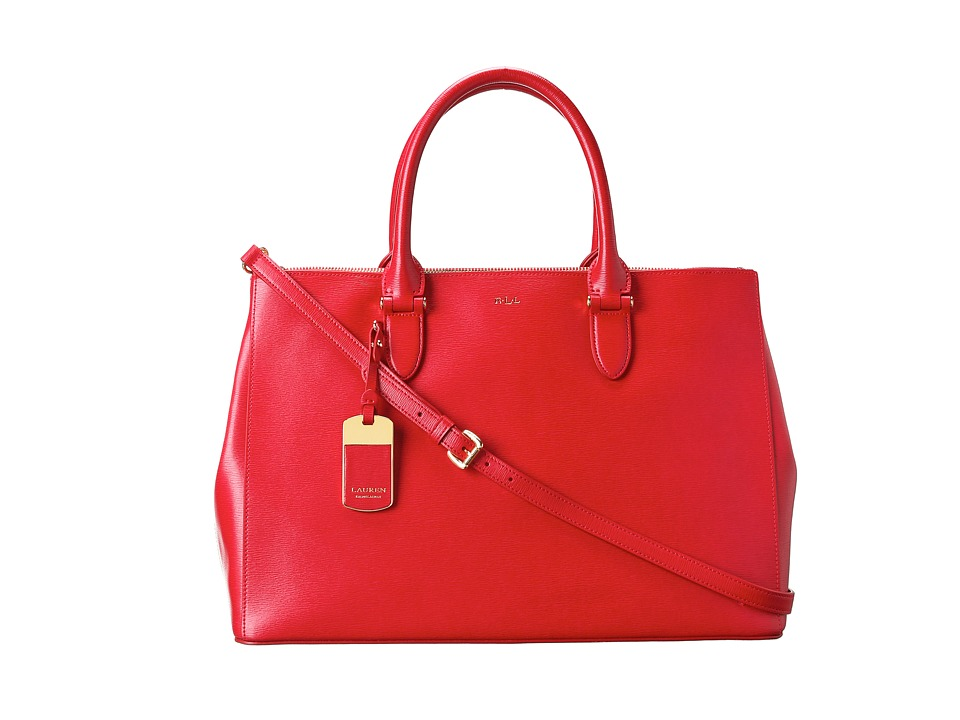 LAUREN Ralph Lauren - Newbury Double Zip Satchel (Red) Satchel Handbags