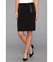 Calvin Klein - Ponte Skirt w/ Polyurethane Trim