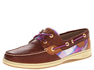 Sperry Top-Sider - Bluefish 2-Eye (Tan Bear/Pink Plaid)
