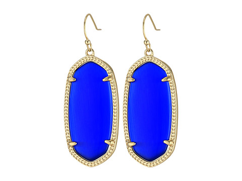 Kendra Scott Elle Earring - Gold/Cobalt Cats Eye