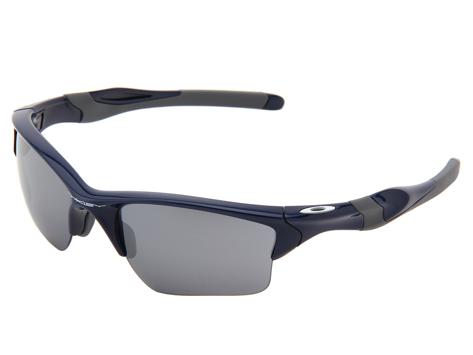 Oakley Half Jacket 2.0 XL (Polished Navy w/ Black Iridium) Plastic Frame Sport Sunglasses