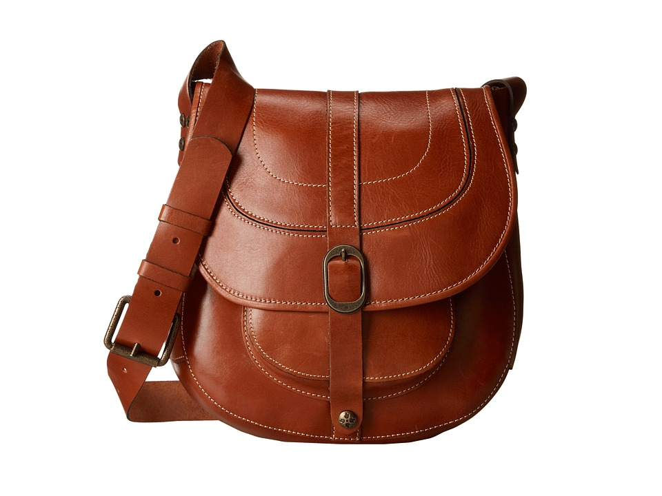 Patricia Nash - Barcelona Saddle Bag (Tan) Handbags