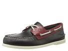 Sperry Top-Sider - A/O 2 Eye Cyclone (Dark Grey/Red) - Footwear