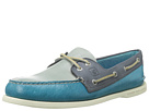 Sperry Top-Sider - A/O 2 Eye Burnished (Teal/Grey/Blue) - Footwear