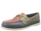 Sperry Top-Sider - A/O 2 Eye Burnished (Blue/Red/Beige) - Footwear