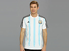 adidas - Argentina Messi Tee (White/Columbia Blue/Black)