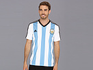 adidas - Argentina Home Replica Tee (White/Columbia Blue/Black) - Apparel