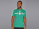adidas - Mexico Home Replica Tee (Vivid Green/Dark Green) - Apparel