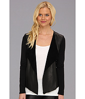 Michael Stars - Long Sleeve Leather Front Cardigan