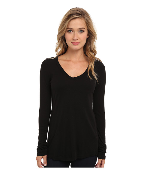 Michael Stars Slub Long-Sleeve V-Neck Tee