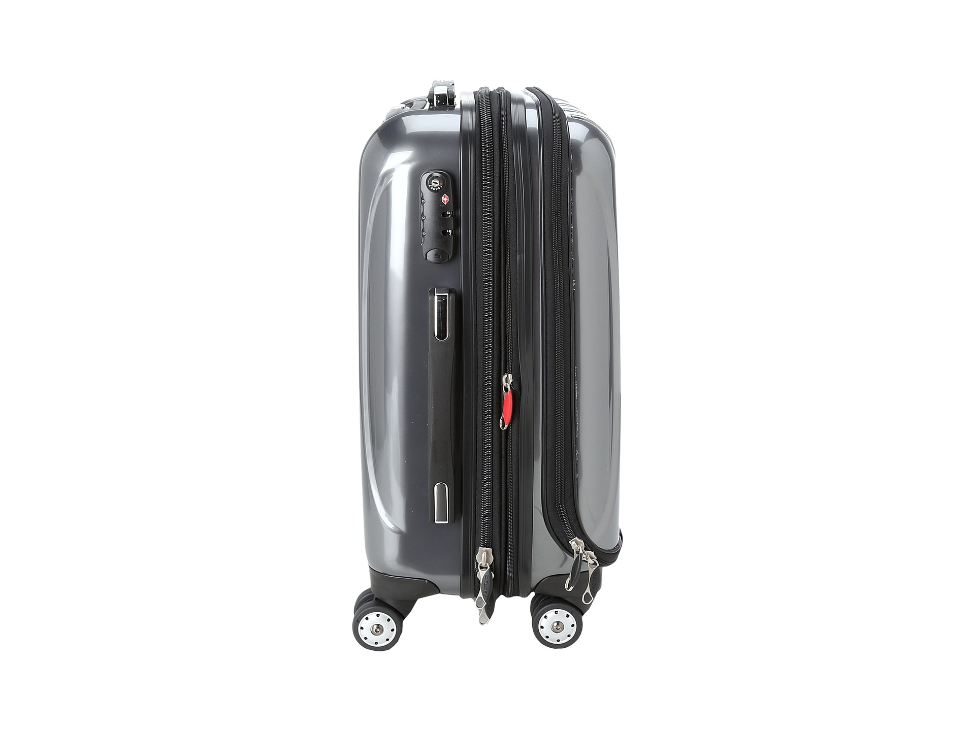 delsey helium aero 19 international carry on expandable trolley platinum free. Black Bedroom Furniture Sets. Home Design Ideas