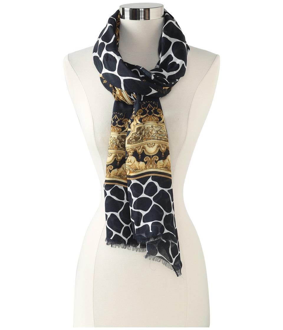 Versace Anonciada Shawl (Black) Scarves