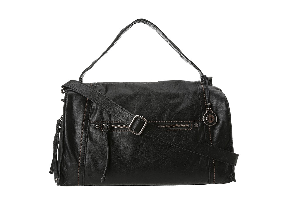 The Sak - Mirada Satchel (Black Shrunken Leather) Satchel Handbags