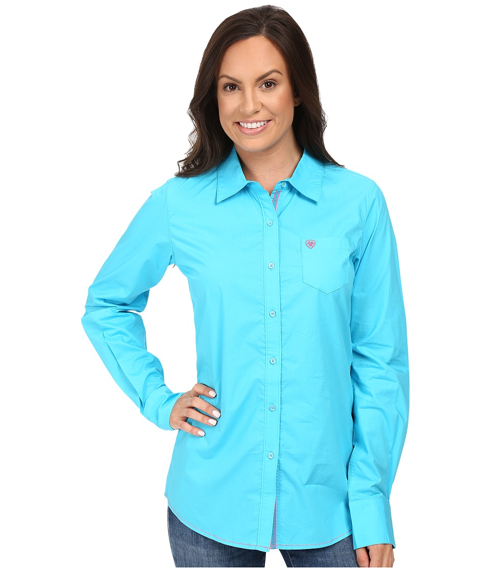 Ariat - Kirby Shirt (Endless Turquoise) Womens Long Sleeve Button Up