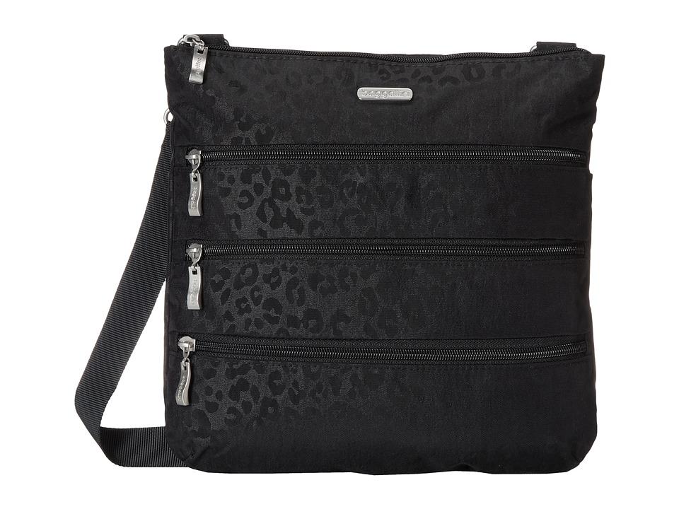 Baggallini Big Zipper Bagg (Cheetah/Black) Cross Body Handbags