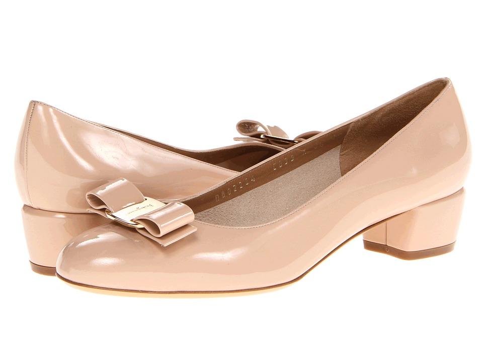 Salvatore Ferragamo Vara (New Bisque) 1-2 inch heel Shoes
