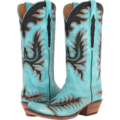 L4727.S54 (Mayela Stitch Destroyed Emareld Blue) Cowboy Boots