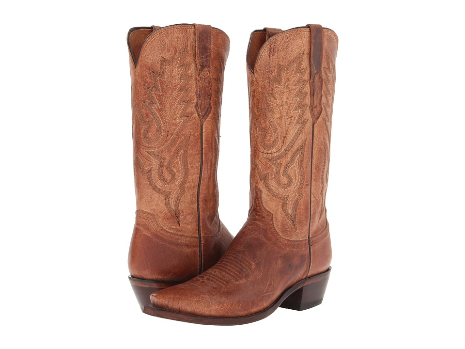 Lucchese - M1008.54 (Tan Mad Dog Goat) Cowboy Boots