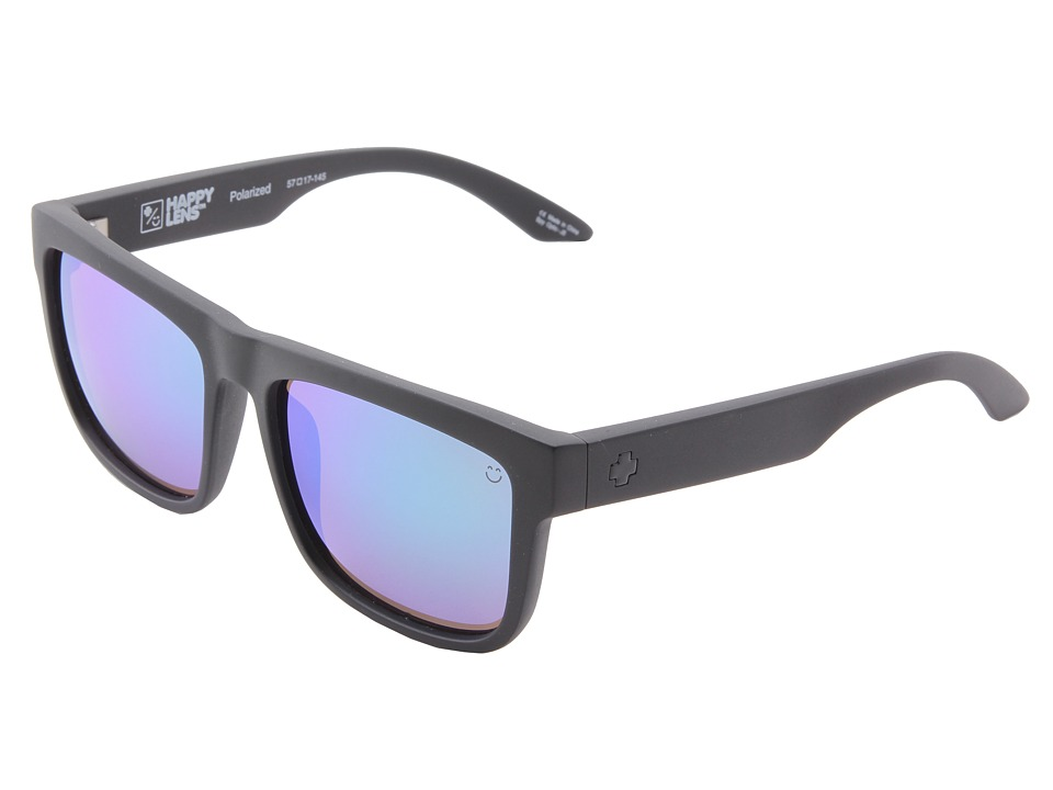 Spy Optic - Discord (Happy Lens) (Matte Black-Happy Bronze Polar W/Green Spectra) Sport Sunglasses
