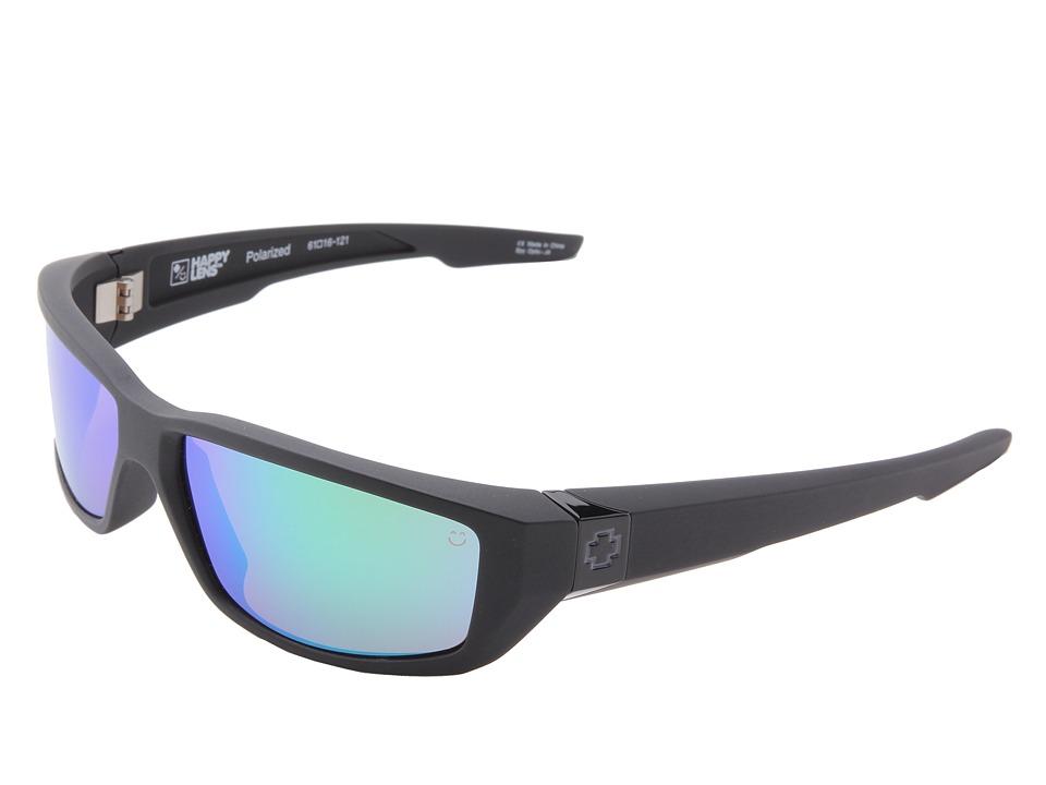 Spy Optic Dirty Mo (Happy Lens) (Matte Black-Happy Bronze Polar W/Green Spectra) Sport Sunglasses