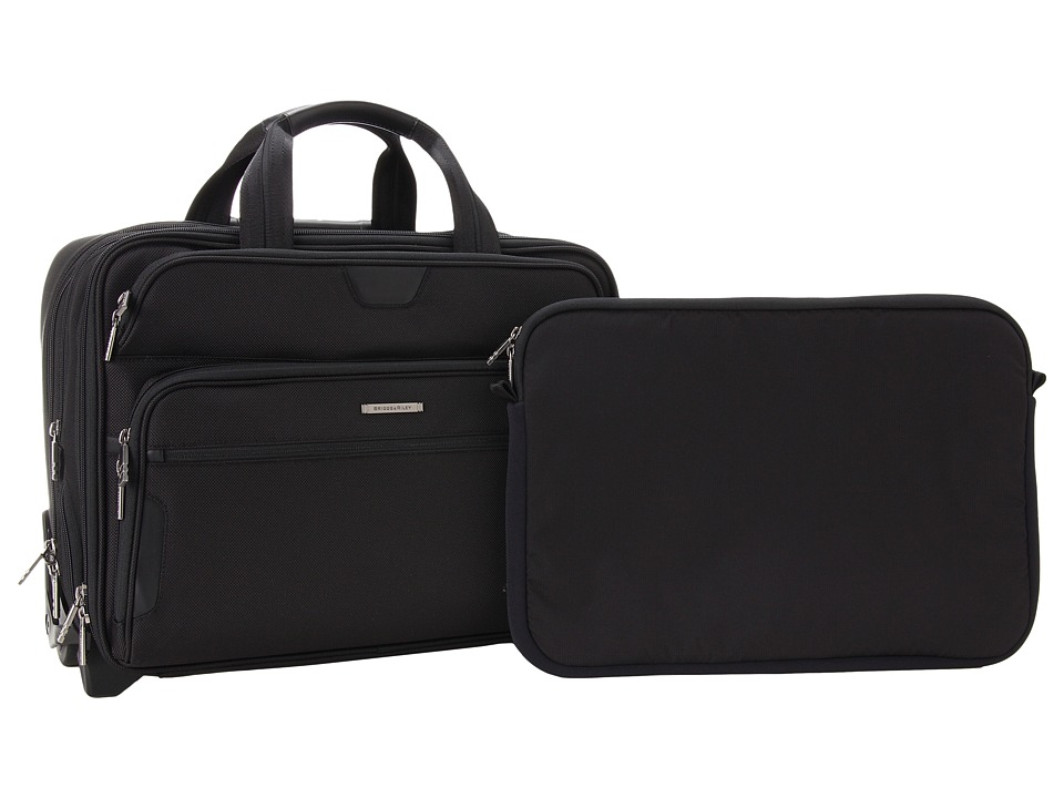 Briggs & Riley - @ Work Large Expandable Rolling Brief (Black) Bags
