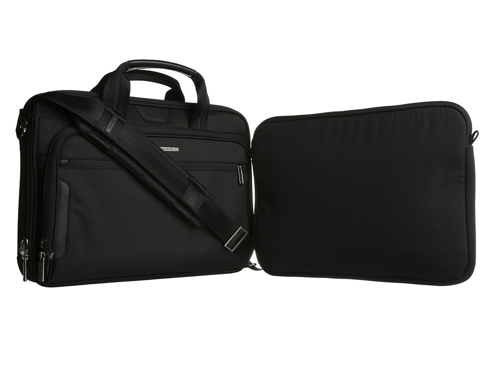 Briggs & Riley - @ Work Medium Slim Brief (Black) Briefcase Bags