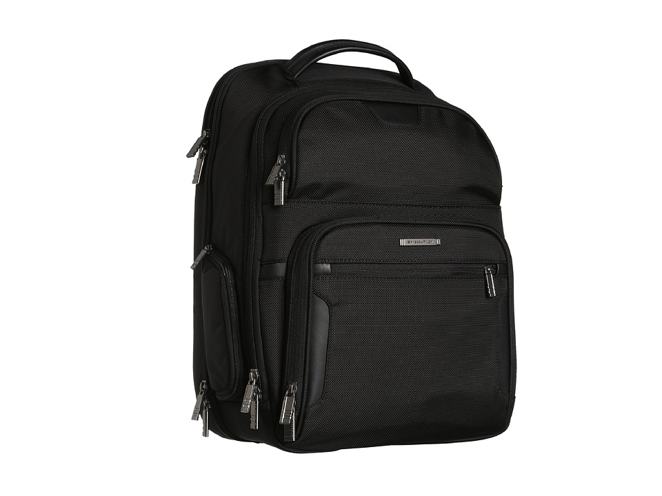 Briggs & Riley - @ Work Large Clamshell Backpack (Black) Bags