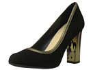 Cole Haan - Edie High Party Pump (Black Suede/Gold Metallic) - Footwear