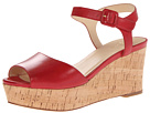 Cole Haan - Gillian Mid Wedge (Tango Red) - Footwear