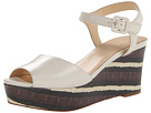 Cole Haan - Gillian Mid Wedge (Ivory/Chestnut Stripe Lizard) - Footwear
