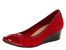 Cole Haan - Milly Wedge (Velvet Red Suede/Patent) - Footwear