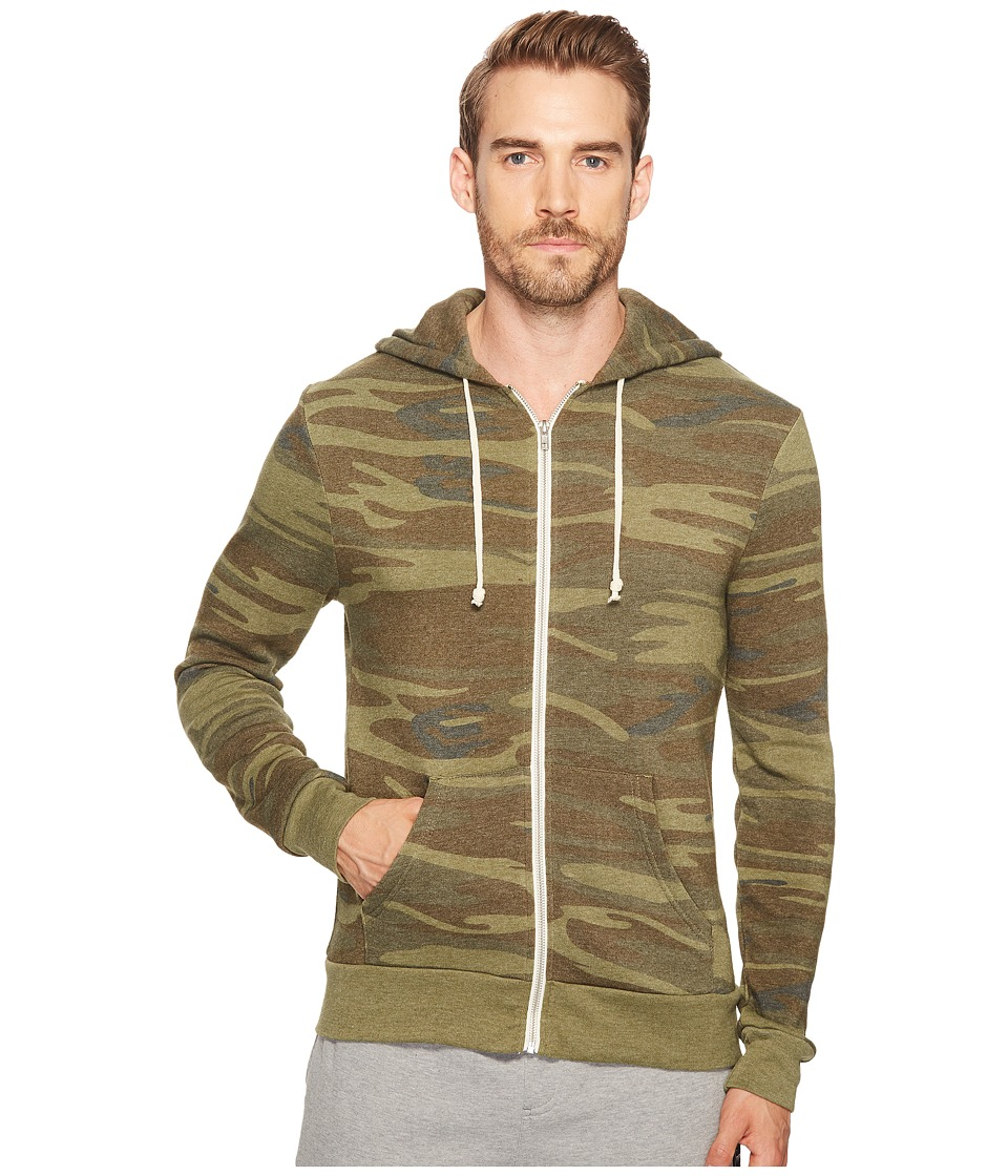 Alternative - Printed Rocky Zip Hoodie (Camo) Mens Sweatshirt