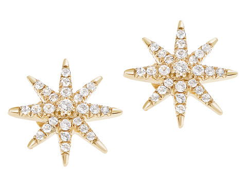 Elizabeth and James Compass Rose Stud Earring