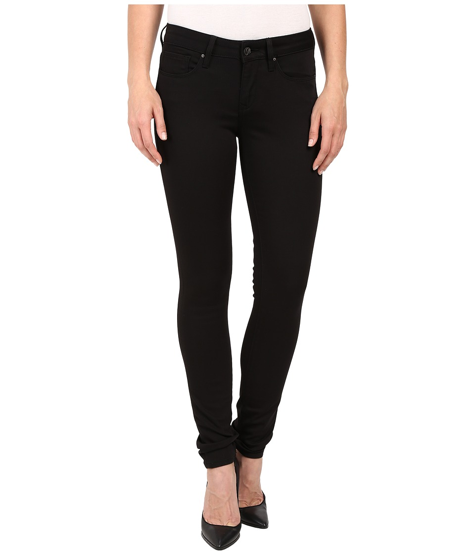 Mavi Jeans Alexa Mid Rise Super Skinny in Jet Black Jet Black Womens Jeans
