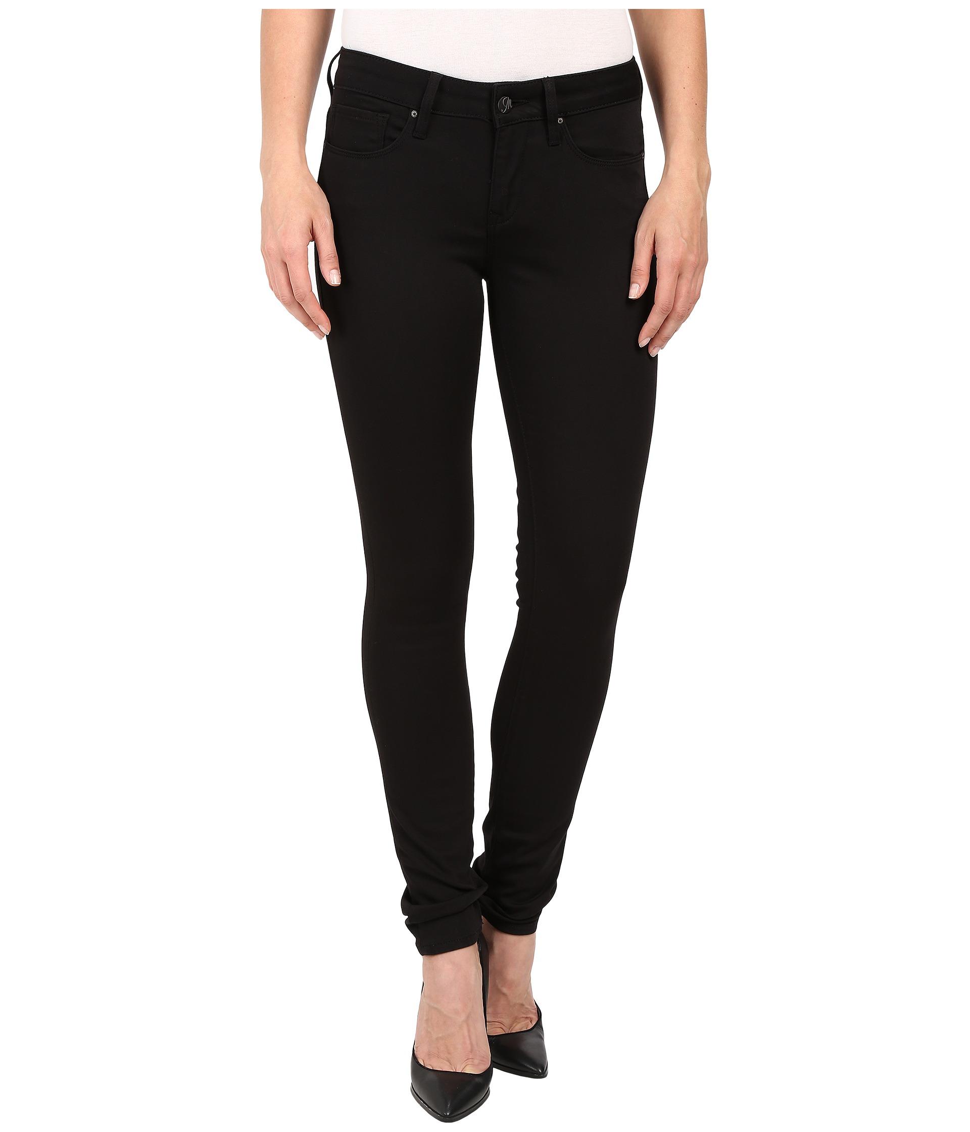 Mavi Jeans Alexa Mid-Rise Super Skinny in Jet Black - Zappos.com