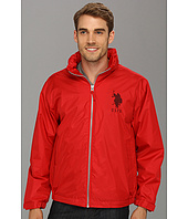 U.S. Polo Assn - Solid Windbreaker w/ Polar Fleece Lining