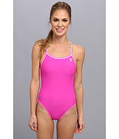 TYR - PINK Solid Brites Reversible Diamondfit Swimsuit