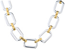 LAUREN Ralph Lauren - 18 Medium Metal Link Necklace (Two-Tone)