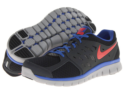 Nike - Flex 2013 Run (Black/Anthracite/Game Royal/Light Crimson) - Footwear