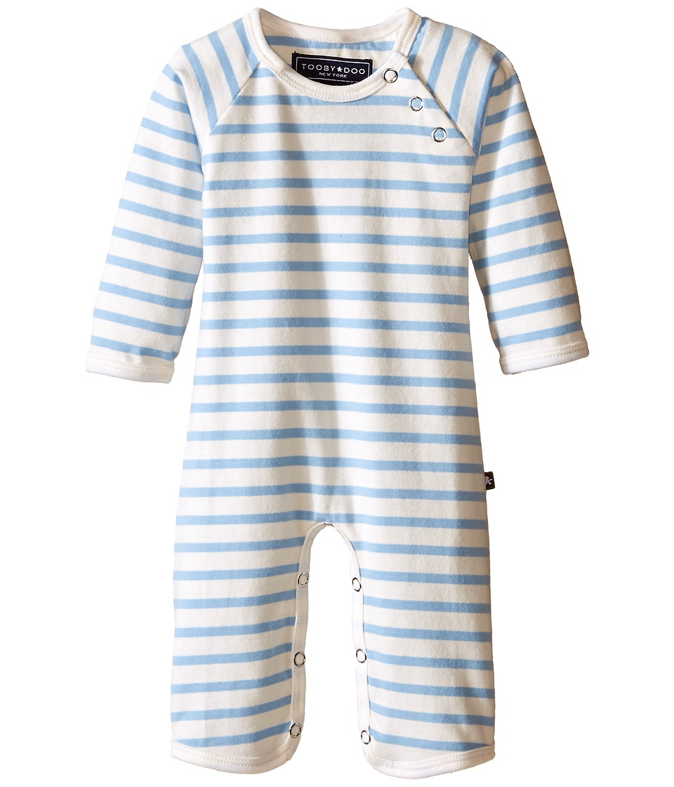 Toobydoo Chelsea Jumpsuit Infant Lt Blue White Boys Jumpsuit Rompers One Piece