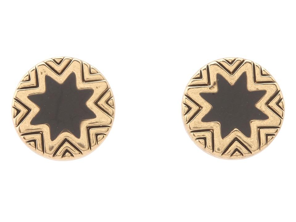 House of Harlow 1960 - Mini Sunburst Stud Earrings (Gold/Black) Earring