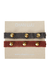 Chan Luu - 2 Pack - 6 1/2' Seed Bead Bracelet with Studs